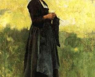 Breton Girl — Уиллард Меткалф