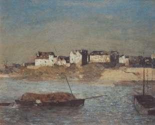 Breton harbour — Одилон Редон