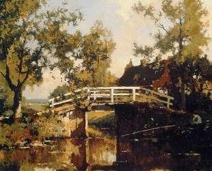 Bridge Near Estate Linschoten — Корнелис Вреденбург