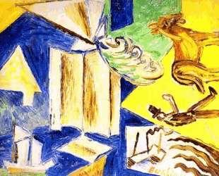 Мост (Повторение композиции 1911 года) — Давид Бурлюк