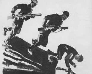 Англичане интервенты. Иллюстрация из журнала «Прожектор» (1928. № 2) — Александр Дейнека