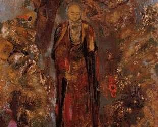 Buddha Walking among the Flowers — Одилон Редон
