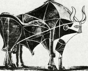 Bull (plate V) — Пабло Пикассо