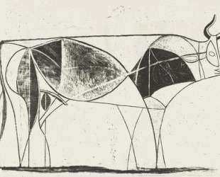 Bull (plate VIII) — Пабло Пикассо