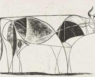 Bull (plate VIII) — Пабло Пикассо