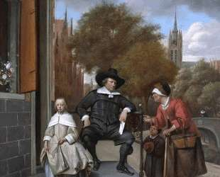 Burgher of Delft and his Daughter — Ян Стен