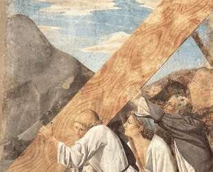 Слуги Соломона закапывают Животворящее Древо — Пьеро делла Франческа