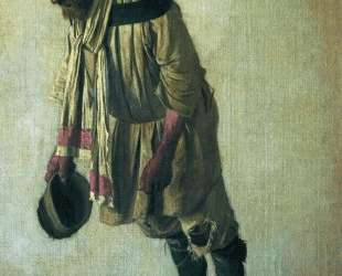 Burlak with the cap in his hand — Василий Верещагин