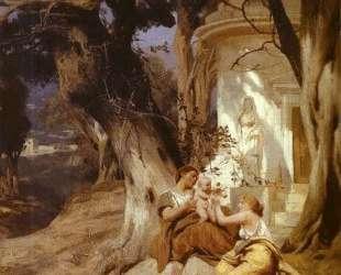 By a Temple (Idyll) — Генрих Семирадский