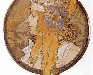 Byzantine Head. The Blonde — Альфонс Муха