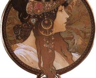 Byzantine Head. The Brunette — Альфонс Муха
