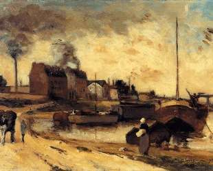 Угольные фабрики и набережная Гренеля — Поль Гоген