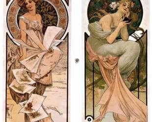 Calendar Champagne — Альфонс Муха