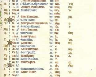 Calendar January — Братья Лимбург