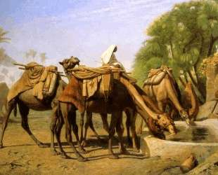 Camels at the Fountain — Жан-Леон Жером