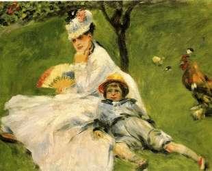 Камилла Моне и её сын Жан в саду в Аржантее — Пьер Огюст Ренуар