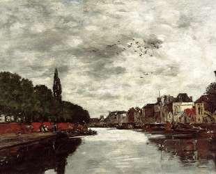 Canal near Brussels — Эжен Буден