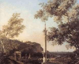 Capriccio: River Landscape with a Column — Каналетто