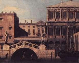 Capriccio: The Ponte della Pescaria and Buildings on the Quay — Каналетто