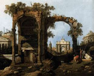 Capriccio with Classical Ruins and Buildings — Каналетто