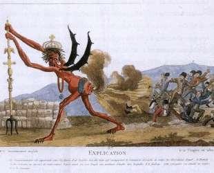 Карикатура на английское правительство — Жак Луи Давид