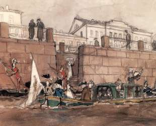 Карнавал на Фонтанке — Александр Бенуа