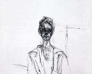 Carolina on white background — Альберто Джакометти