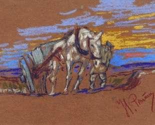 Везущая лошадь — Илья Репин