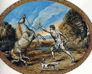 Кастор и его лошадь — Джорджо де Кирико