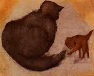 Кошка и котенок — Эдвард Бёрн-Джонс