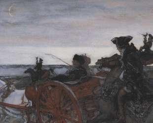 Выезд Екатерины II на соколиную охоту — Валентин Серов
