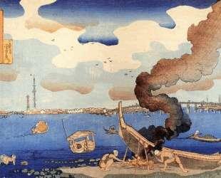 Caulking boats — Утагава Куниёси