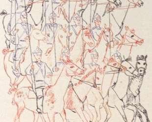 Конница. Рисунок для детской книжки-картинки 'Парад Красной Армии' — Александр Дейнека