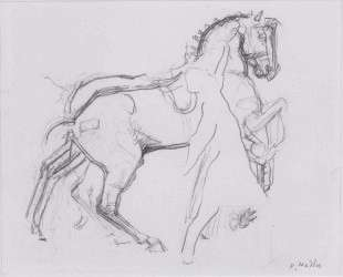 Cavalryman striding a horse — Фердинанд Ходлер