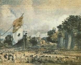 Праздник в честь победы при Ватерлоо в Ист-Бергхолт — Джон Констебл