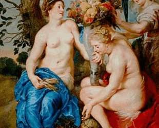 Ceres with two nymphs — Франс Снейдерс