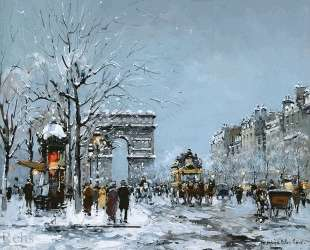 Champs Elysees, Winter — Антуан Бланшар