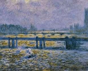 Мост Чаринг-Кросс, отражениев Темзе — Клод Моне