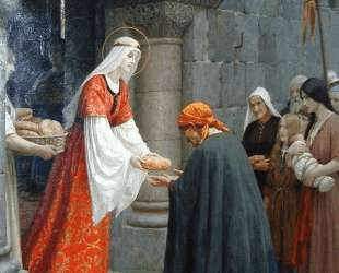 Charity of St. Elizabeth of Hungary — Фредерик Лейтон