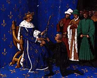 Charles V gives the sword of constable to Bertrand du Guesclin — Жан Фуке
