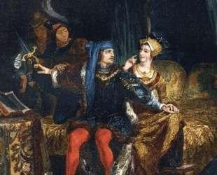 Карл VI и Одетта де Шамдивер — Эжен Делакруа