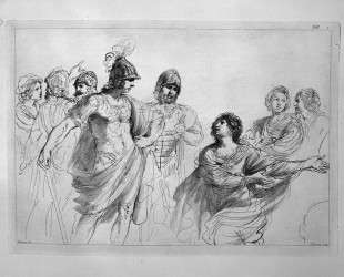 Women and warriors, by Guercino — Джованни Баттиста Пиранези