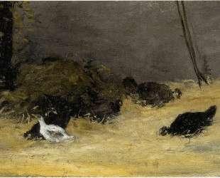 Куриная стая — Поль Гоген