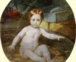 Портрет А. Г. Гагарина (Ребёнок в бассейне) — Карл Брюллов