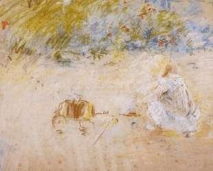 Child Playing in the Garden — Берта Моризо