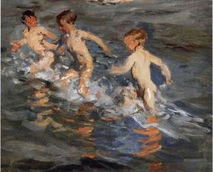 Children at the beach — Хоакин Соролья
