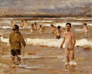 Children Bathing in the Sea — Макс Либерман