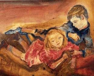 Children playing — Оскар Кокошка