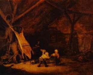 Children Playing in a Barn — Адриан ван Остаде