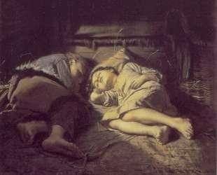 Спящие дети — Василий Перов